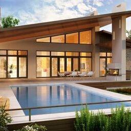 pool fancy house